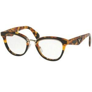 Prada Eyeglasses Iconic Logo Havana